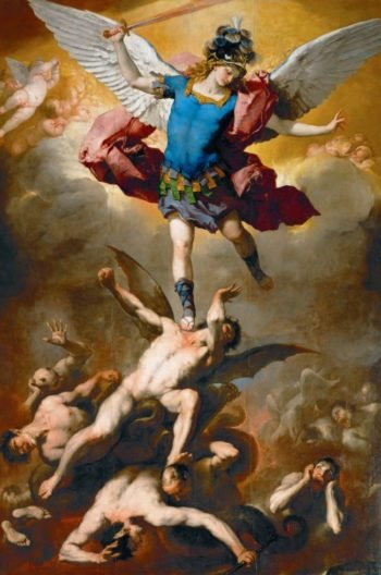 Archangel Michael Hurls the Rebellious Angels into the Abyss | Luca Giordano | oil painting