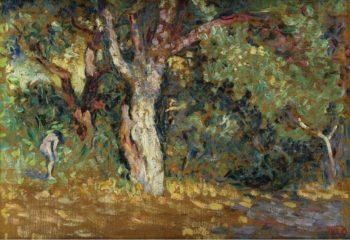 Thicket with Female Nude (study) | Henri Edmond Cross | oil painting