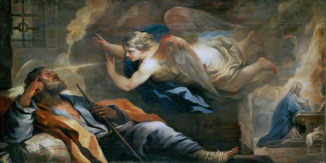 Dream of Saint Joseph | Luca Giordano | oil painting
