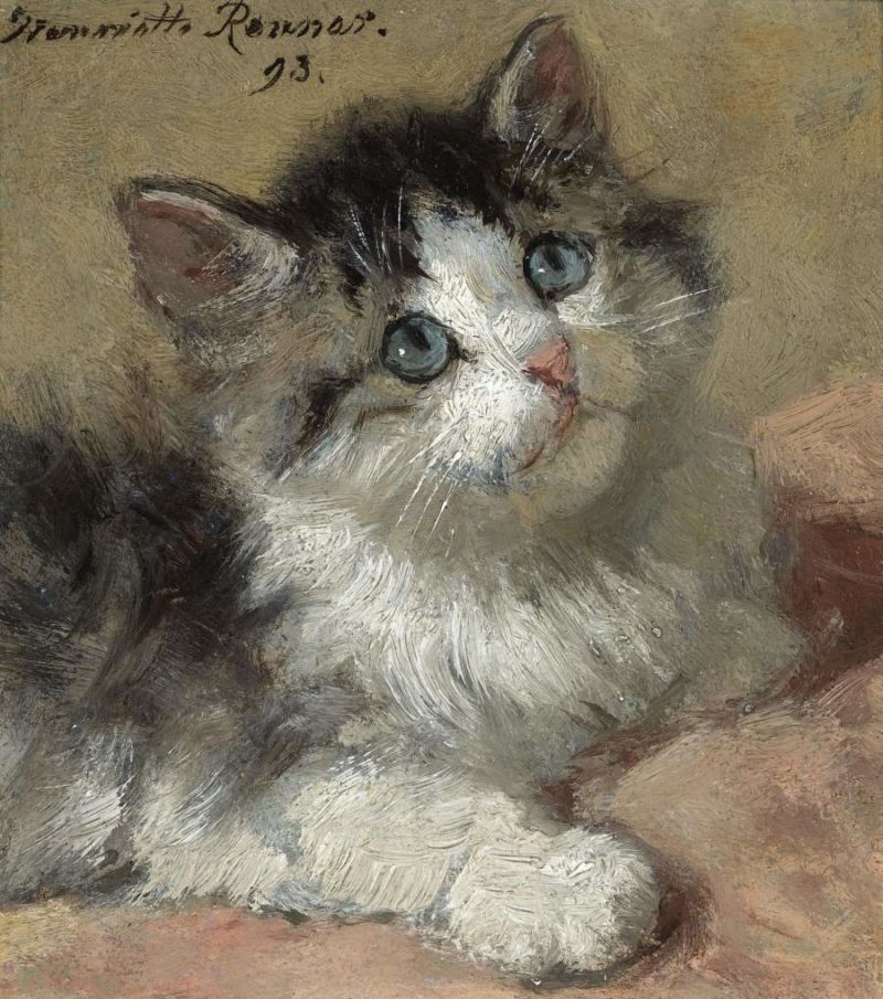 An Inquisitive Kitten 1893 | Henriette Ronner Knip | oil painting