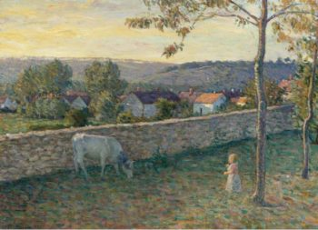 A Child at the Lawn at Pierrefonds 1896 | Henri Lebasque | oil painting