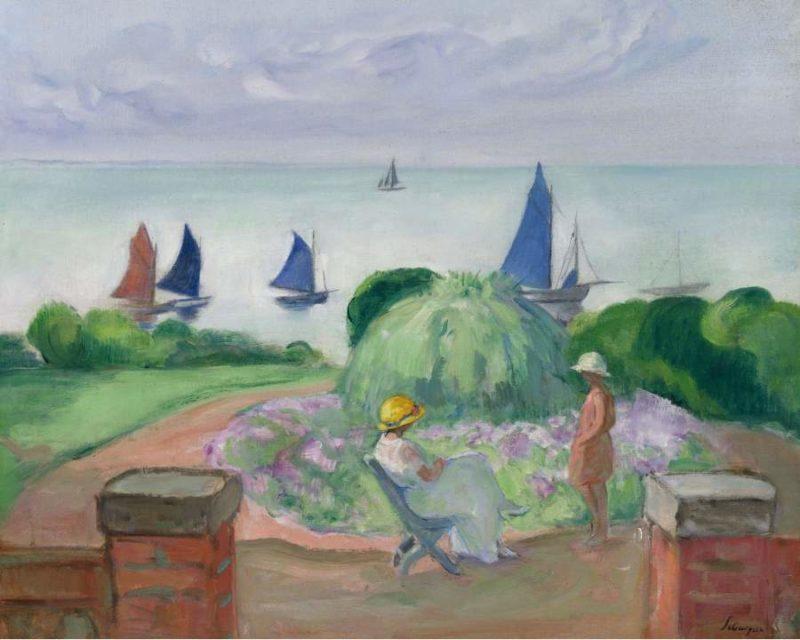 At the Terrace at Prefailles 1922 | Henri Lebasque | oil painting