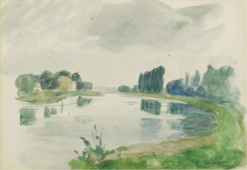 Bank of the River | Henri Lebasque | oil painting