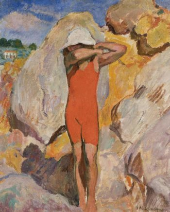 Child in Red Tights   Henri Lebasque   oil painting