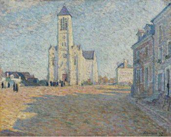 Church in the Village   Henri Lebasque   oil painting