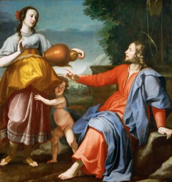 Christ and the Samaritan woman at the well | Lorenzo Lippi | oil painting