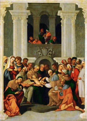 Circumcision of Christ | Lodovico Mazzolino | oil painting
