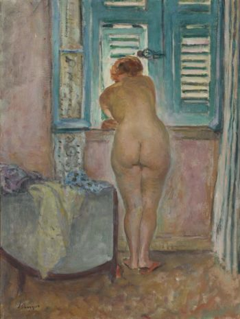 Female Naude by the Window   Henri Lebasque   oil painting