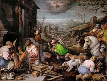January | Leandro Bassano | oil painting