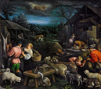 April | Leandro Bassano | oil painting