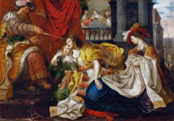 Esther Before Ahasuerus | Kaspar van den Hoecke -active 1595-after 1648 | oil painting