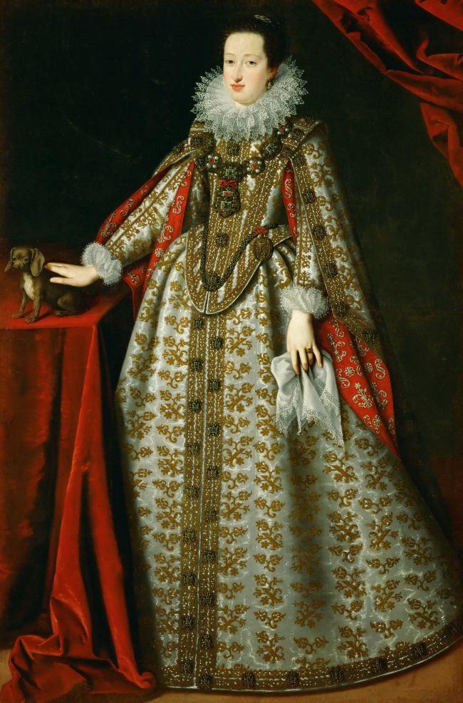 Eleonora Gonzaga in her wedding dress | Justus Suttermans | oil painting