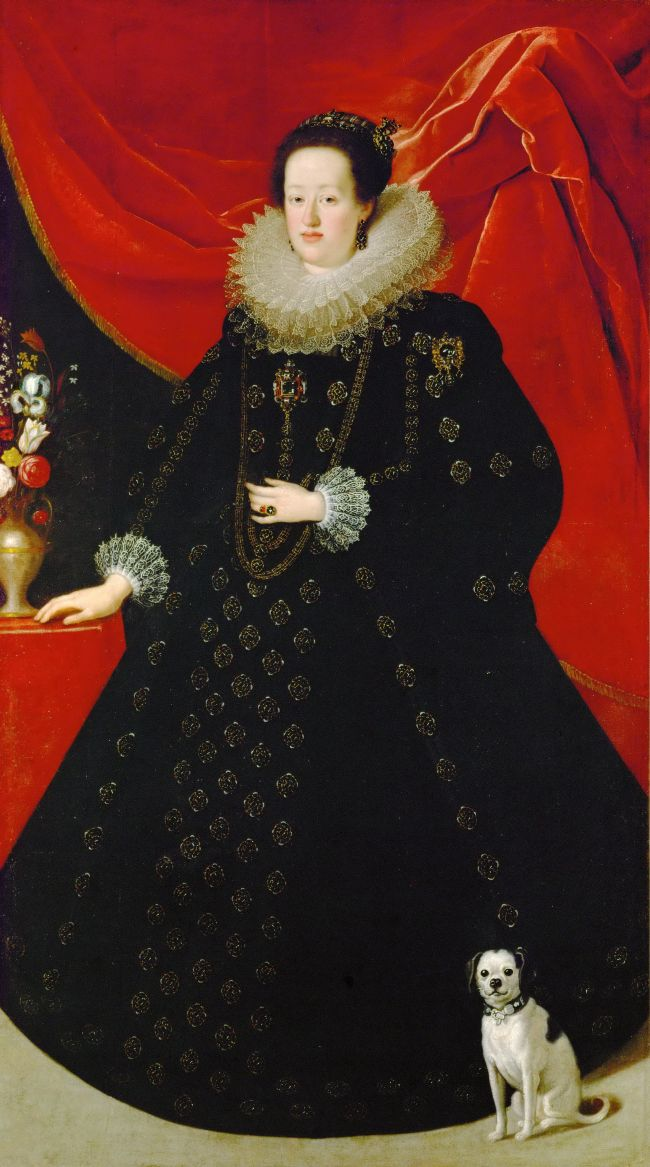 Eleonora Gonzaga dressed in black | Justus Suttermans | oil painting