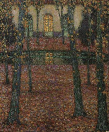 Trianon Pool in Autumn 1937 | Henri Le Sidaner | oil painting