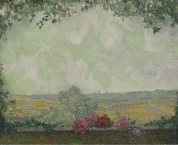 View of the Terrace 1925 | Henri Le Sidaner | oil painting