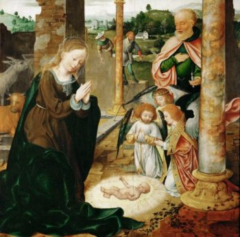 The Birth of Christ | Joos van Cleve | oil painting