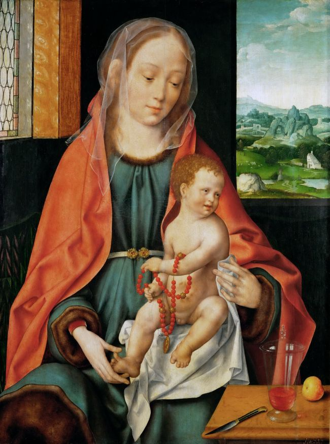Saint Mary with the Christ Child | Joos van Cleve | oil painting