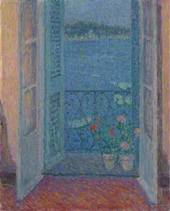 Window at Twilight Villefranche sur Mer 1926 | Henri Le Sidaner | oil painting