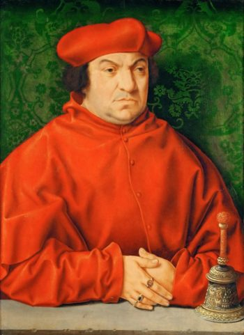 Portrait of bernardo Clesio | Joos van Cleve | oil painting