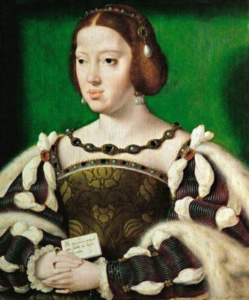 Leonor de Austria | Joos van Cleve | oil painting