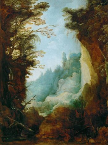 Ravine between Rocks | Joos de Momper the younger | oil painting