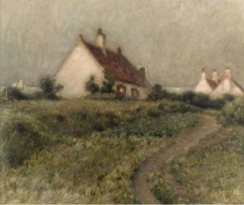 A House on a Dune Fort Philippe 1903 | Henri Le Sidaner | oil painting