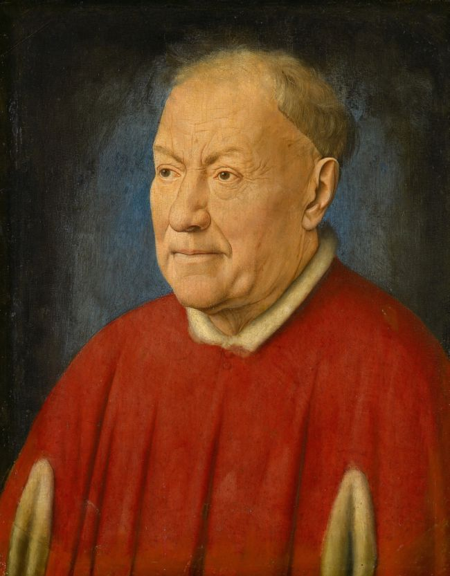 Cardinal Niccolo Albergati Papal Envoy in the Spanish Netherlands   Jan van Eyck   oil painting