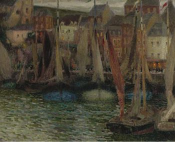 Boats at Treport 1906 | Henri Le Sidaner | oil painting