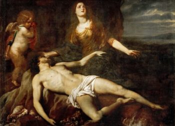 Hero Bewailing the Death of Leander | Jan van den Hoecke | oil painting