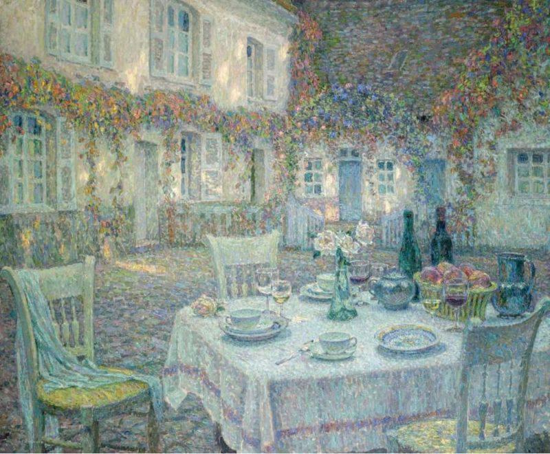 Breakfast 1913 | Henri Le Sidaner | oil painting