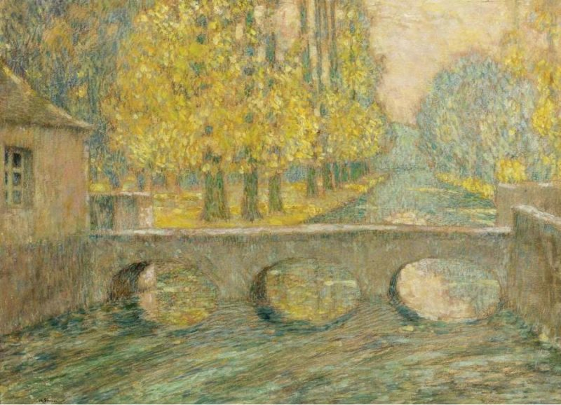 Bridge Autumn Gisors 1904 | Henri Le Sidaner | oil painting