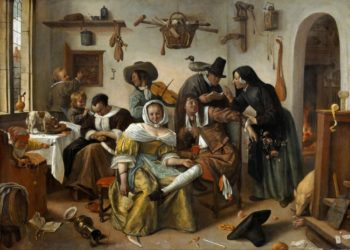 The Topsy-Turvy World | Jan Steen | oil painting