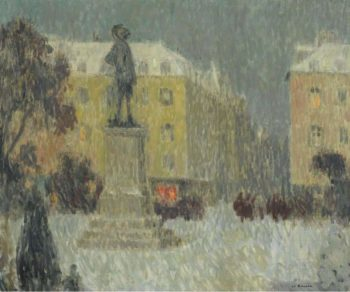 Hoche Square Versailles 1939 | Henri Le Sidaner | oil painting