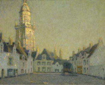 La Place Le Croisic 1924 | Henri Le Sidaner | oil painting