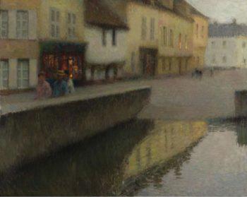 Le Miroir 1900 | Henri Le Sidaner | oil painting