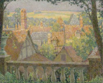 On the Roofs 1927 | Henri Le Sidaner | oil painting