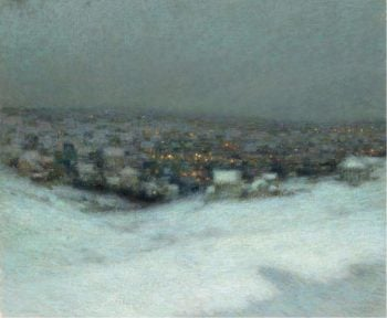 Snow under the Moon 1903 | Henri Le Sidaner | oil painting