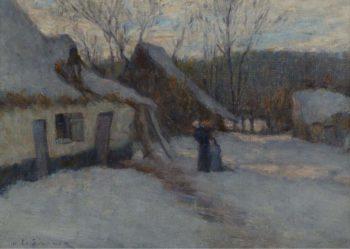 Snowy Landscape Etaples 1894 | Henri Le Sidaner | oil painting