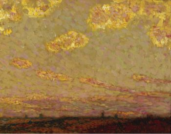 Sunset at Gerberoy 1913 | Henri Le Sidaner | oil painting