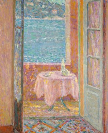 Table by the Sea Villefranche sur Mer 1920 | Henri Le Sidaner | oil painting