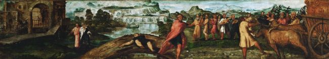 Transport of the Ark of the Covenant | Jacopo Tintoretto | oil painting