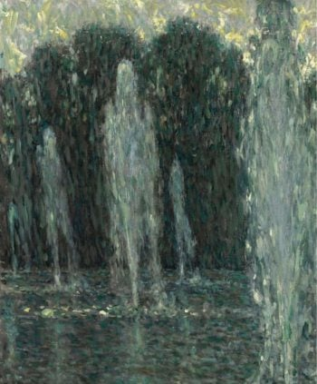 The Jets of Water Versailles 1938 | Henri le Sidaner | oil painting