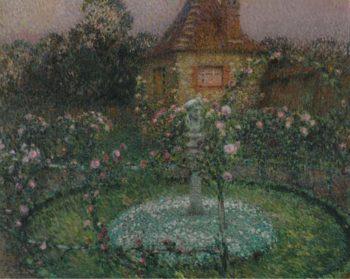 The Pavillion Gerberoy 1909 | Henri Le Sidaner | oil painting