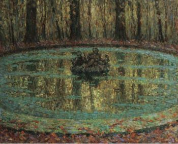 The Pool with Duckweed 1916 | Henri Le Sidaner | oil painting