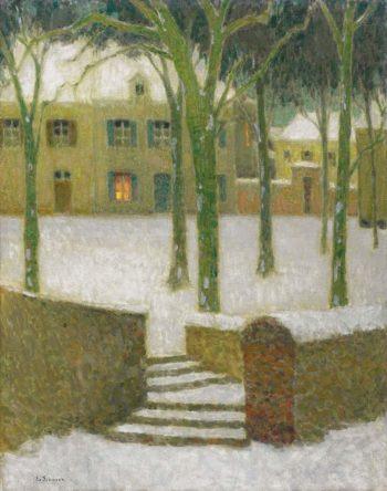The Square Nemours 1930 | Henri Le Sidaner | oil painting