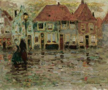 The Square of Ecluse Sluis 1899 | Henri Le Sidaner | oil painting