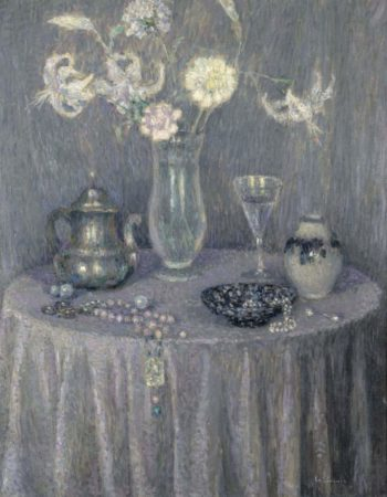 The Table Harmony in Grey 1927 | Henri Le Sidaner | oil painting