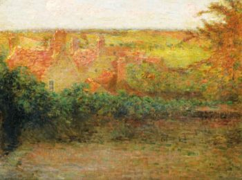 The Terrace Sun Gerberoy 1901 | Henri Le Sidaner | oil painting