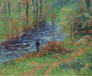 Fisher on the Bank of the River 1904 05 | Henry Moret | oil painting