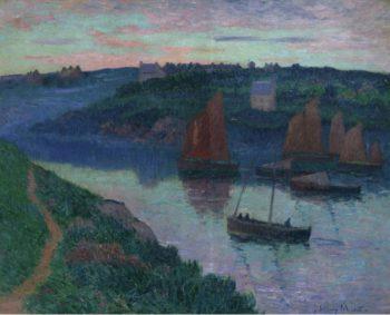 Fishing Boats in Bretagne 1897 | Henry Moret | oil painting